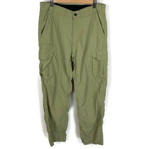 Exofficio Khaki Nylon Cargo Pants Size 32